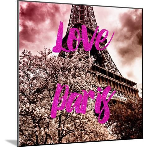 Paris Fashion Series - Love Paris - Pink Eiffel-Philippe Hugonnard-Mounted Photographic Print