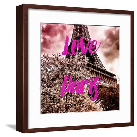 Paris Fashion Series - Love Paris - Pink Eiffel-Philippe Hugonnard-Framed Art Print