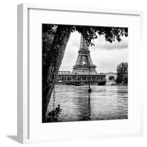 Paris sur Seine Collection - Eiffel Bridge III-Philippe Hugonnard-Framed Art Print
