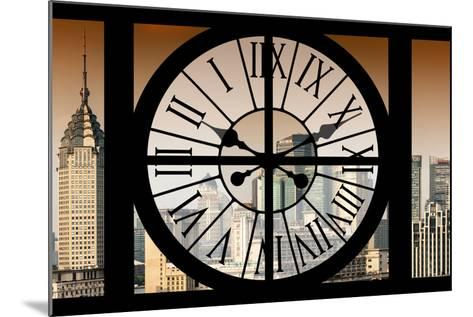 Giant Clock Window - View of Shanghai at Sunset - China-Philippe Hugonnard-Mounted Photographic Print
