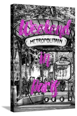 Paris Fashion Series - Weekend in Paris - Metropolitain Abbesses II-Philippe Hugonnard-Stretched Canvas Print