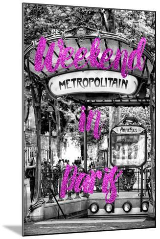 Paris Fashion Series - Weekend in Paris - Metropolitain Abbesses II-Philippe Hugonnard-Mounted Photographic Print
