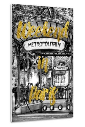 Paris Fashion Series - Weekend in Paris - Metropolitain Abbesses-Philippe Hugonnard-Metal Print