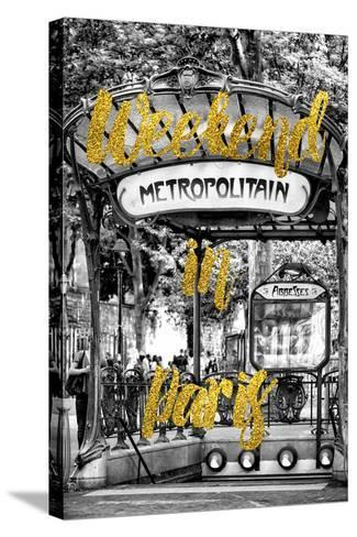 Paris Fashion Series - Weekend in Paris - Metropolitain Abbesses-Philippe Hugonnard-Stretched Canvas Print
