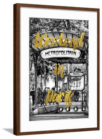 Paris Fashion Series - Weekend in Paris - Metropolitain Abbesses-Philippe Hugonnard-Framed Art Print