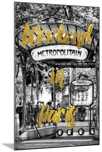 Paris Fashion Series - Weekend in Paris - Metropolitain Abbesses-Philippe Hugonnard-Mounted Photographic Print