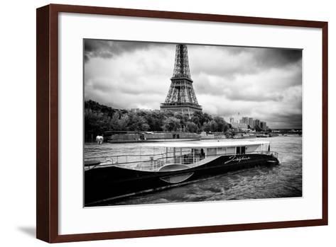 Paris sur Seine Collection - Josephine Cruise III-Philippe Hugonnard-Framed Art Print
