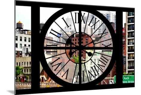 Giant Clock Window - View of the Buildings of Sutton Place - New York-Philippe Hugonnard-Mounted Photographic Print