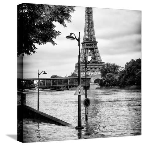 Paris sur Seine Collection - Traffic Light Panel III-Philippe Hugonnard-Stretched Canvas Print