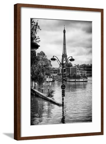 Paris sur Seine Collection - Trocadero Concorde-Philippe Hugonnard-Framed Art Print