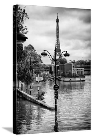 Paris sur Seine Collection - Trocadero Concorde-Philippe Hugonnard-Stretched Canvas Print