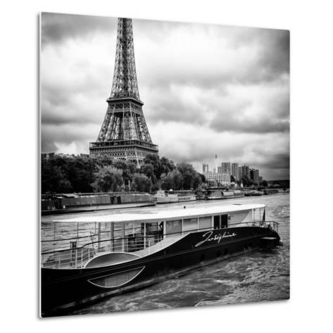Paris sur Seine Collection - Josephine Cruise I-Philippe Hugonnard-Metal Print