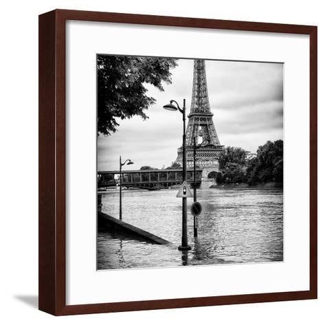 Paris sur Seine Collection - Traffic Light Panel III-Philippe Hugonnard-Framed Art Print