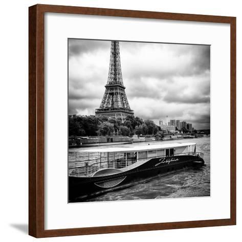 Paris sur Seine Collection - Josephine Cruise I-Philippe Hugonnard-Framed Art Print
