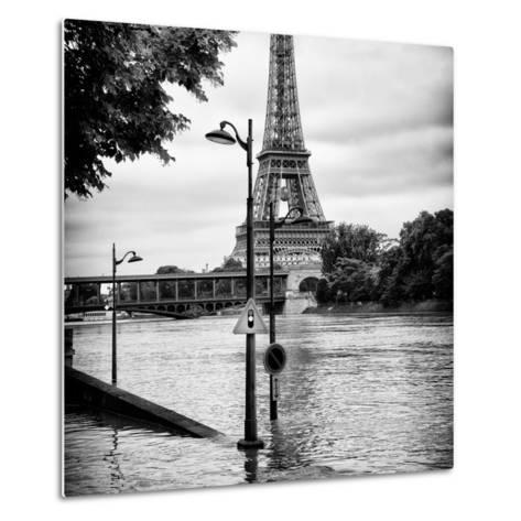 Paris sur Seine Collection - Traffic Light Panel III-Philippe Hugonnard-Metal Print