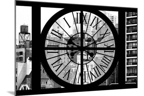 Giant Clock Window - View of the Buildings of Sutton Place - New York II-Philippe Hugonnard-Mounted Photographic Print