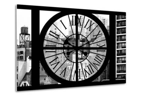 Giant Clock Window - View of the Buildings of Sutton Place - New York II-Philippe Hugonnard-Metal Print