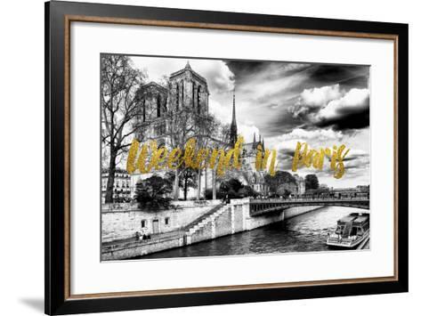 Paris Fashion Series - Weekend in Paris - Notre Dame Cathedral-Philippe Hugonnard-Framed Art Print