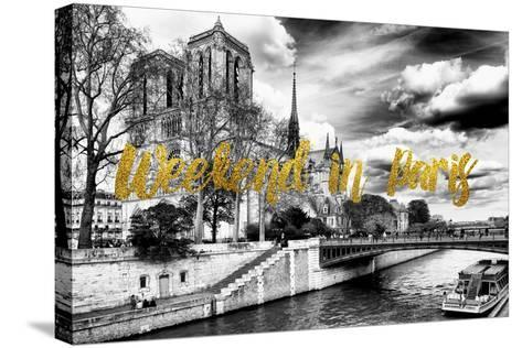 Paris Fashion Series - Weekend in Paris - Notre Dame Cathedral-Philippe Hugonnard-Stretched Canvas Print