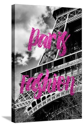 Paris Fashion Series - Paris Fashion - Eiffel Tower III-Philippe Hugonnard-Stretched Canvas Print