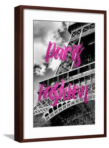 Paris Fashion Series - Paris Fashion - Eiffel Tower III-Philippe Hugonnard-Framed Art Print