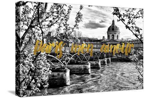 Paris Fashion Series - Paris mon amour - Pont des Arts-Philippe Hugonnard-Stretched Canvas Print