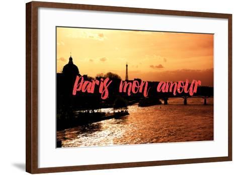 Paris Fashion Series - Paris mon amour - Sunset-Philippe Hugonnard-Framed Art Print