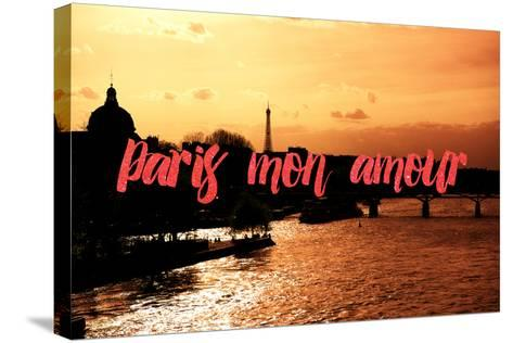 Paris Fashion Series - Paris mon amour - Sunset-Philippe Hugonnard-Stretched Canvas Print
