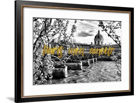 Paris Fashion Series - Paris mon amour - Pont des Arts-Philippe Hugonnard-Framed Art Print