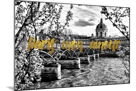 Paris Fashion Series - Paris mon amour - Pont des Arts-Philippe Hugonnard-Mounted Photographic Print
