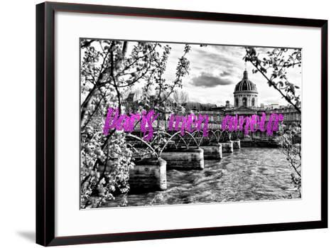 Paris Fashion Series - Paris mon amour - Pont des Arts II-Philippe Hugonnard-Framed Art Print
