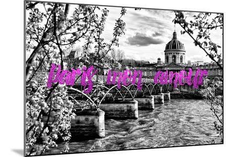Paris Fashion Series - Paris mon amour - Pont des Arts II-Philippe Hugonnard-Mounted Photographic Print