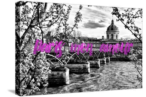 Paris Fashion Series - Paris mon amour - Pont des Arts II-Philippe Hugonnard-Stretched Canvas Print
