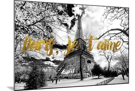 Paris Fashion Series - Paris, je t'aime - Eiffel Tower-Philippe Hugonnard-Mounted Photographic Print