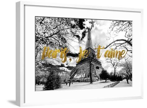 Paris Fashion Series - Paris, je t'aime - Eiffel Tower-Philippe Hugonnard-Framed Art Print
