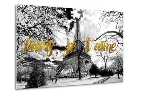 Paris Fashion Series - Paris, je t'aime - Eiffel Tower-Philippe Hugonnard-Metal Print