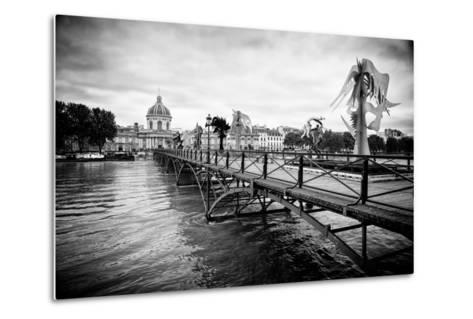 Paris sur Seine Collection - Pont des Arts-Philippe Hugonnard-Metal Print