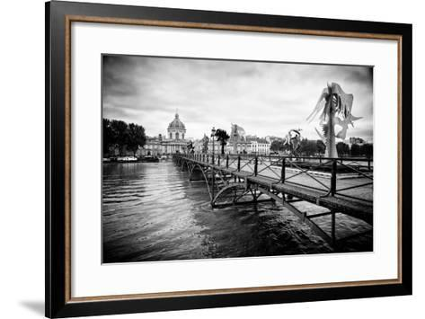 Paris sur Seine Collection - Pont des Arts-Philippe Hugonnard-Framed Art Print