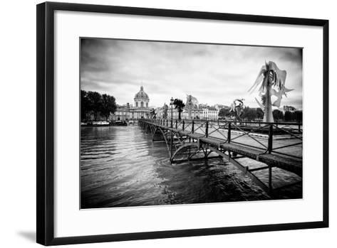 Paris sur Seine Collection - Pont des Arts-Philippe Hugonnard-Framed Art Print