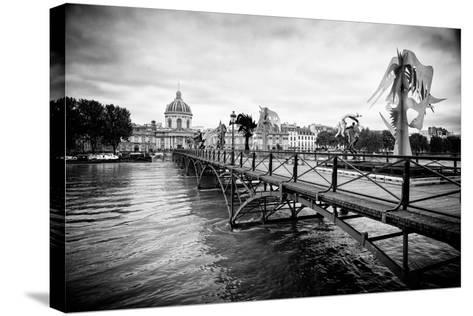 Paris sur Seine Collection - Pont des Arts-Philippe Hugonnard-Stretched Canvas Print