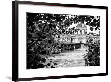Paris sur Seine Collection - Pont des Arts and French Academy-Philippe Hugonnard-Framed Art Print