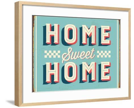Vintage Design -  Home Sweet Home-Real Callahan-Framed Art Print