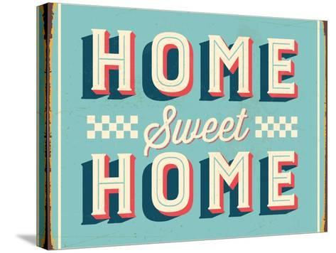 Vintage Design -  Home Sweet Home-Real Callahan-Stretched Canvas Print
