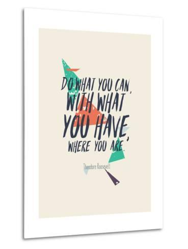 Creative Poster with Quote and Grunge Background-Vanzyst-Metal Print