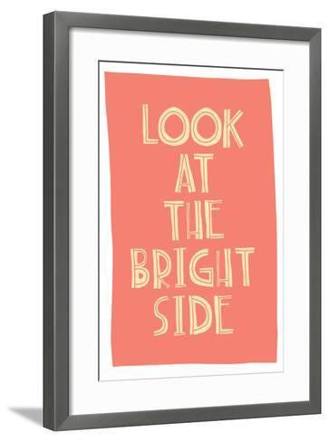 Quote, Inspirational Poster, Typographical Design-Vanzyst-Framed Art Print