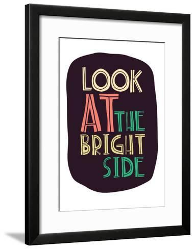 Typographic Background Design-Vanzyst-Framed Art Print