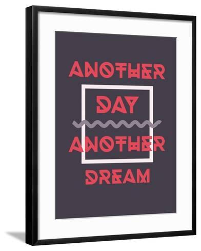 Simple Geometric Motivational Poster-Vanzyst-Framed Art Print