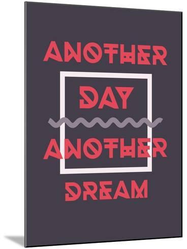 Simple Geometric Motivational Poster-Vanzyst-Mounted Art Print