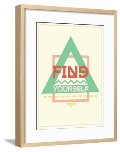 Simple and Strong Motivational Poster-Vanzyst-Framed Art Print