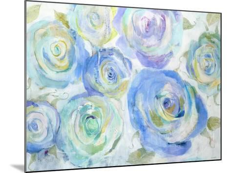 Blue Roses-Jill Martin-Mounted Art Print